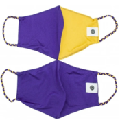 Pomchies 2 pack of Reusable Face masks - Solid LSU Purple & Solid LSU Yellow Gold (Ages 6-Adult) FINAL SALE