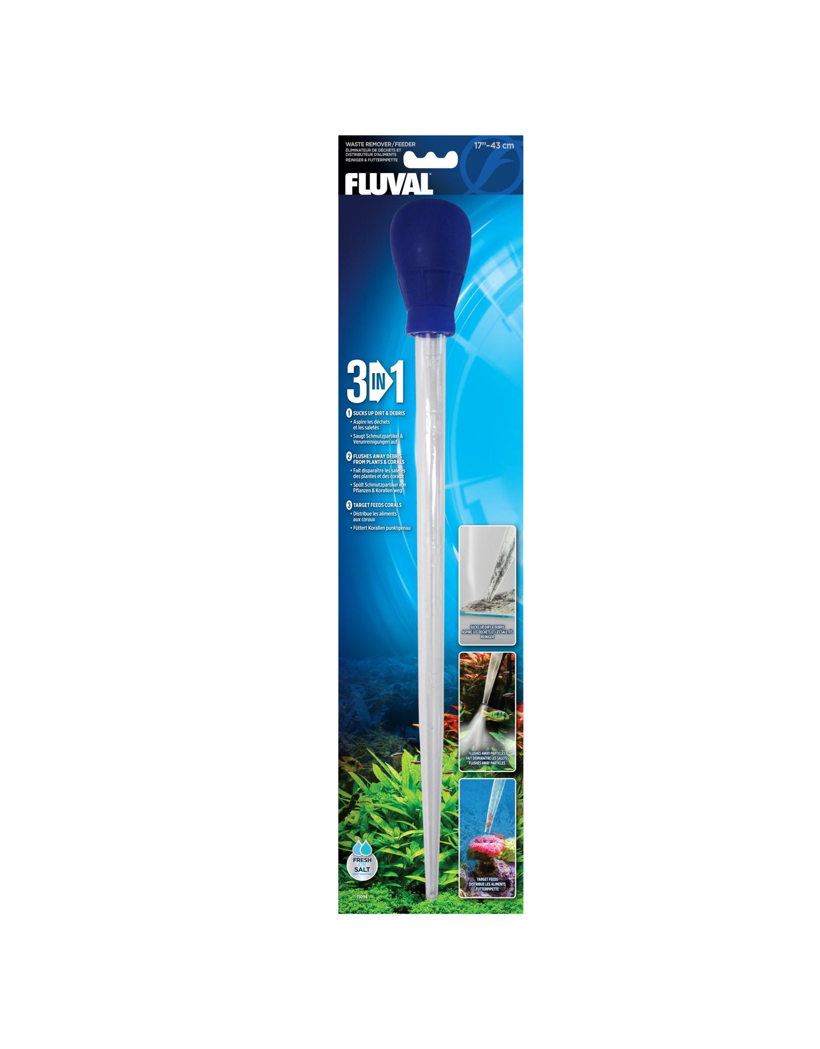 """Fluval Fluval 3-in-1 Waste Remover/ Feeder - 43 cm (17"""")"""