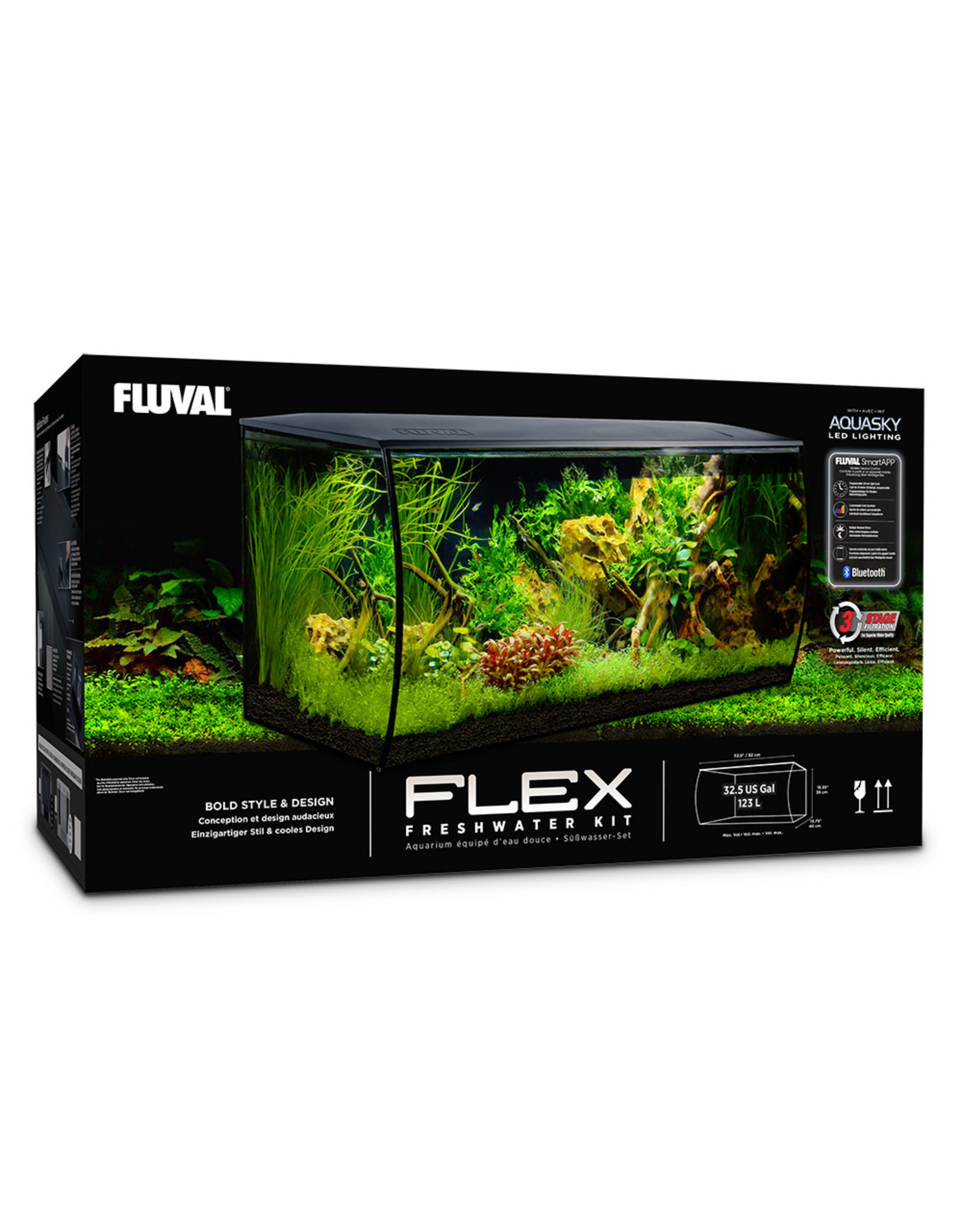 Fluval Fluval Flex 123L (32.5 Gal.), Black