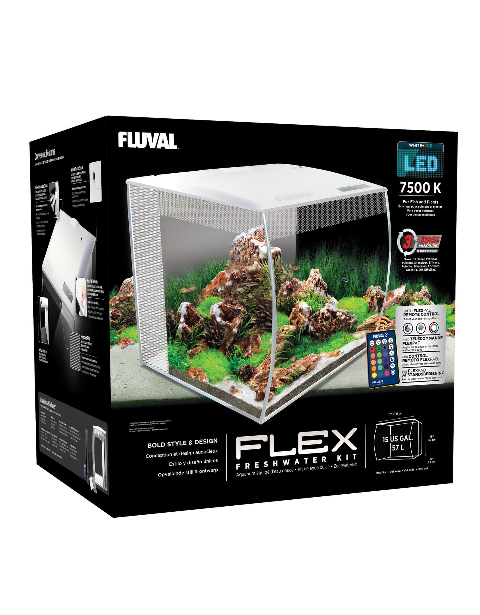 Fluval Fluval Flex Aquarium Kit - 57 L (15 US gal) - White