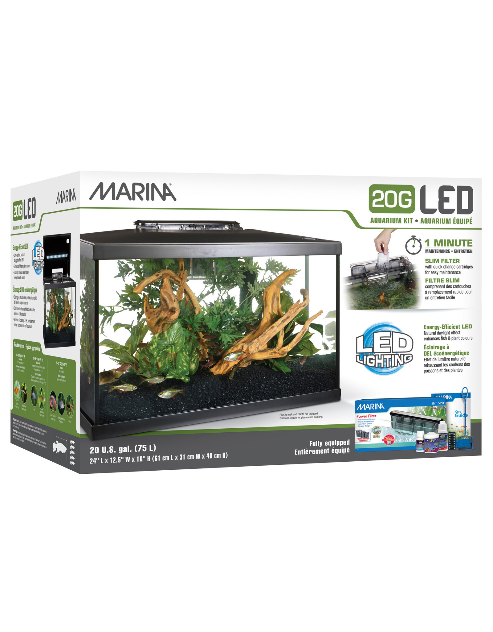 Marina Marina 20G (20 Gal.) LED Aquarium Kit