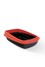Cat Love Cat Pan with Removable Rim Large Red/Charcoal