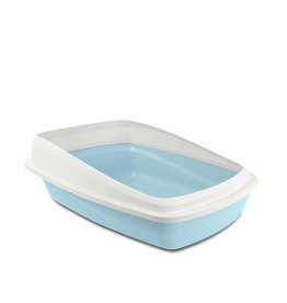 CatIt Cat Pan with Removable Rim Large Blue/Grey