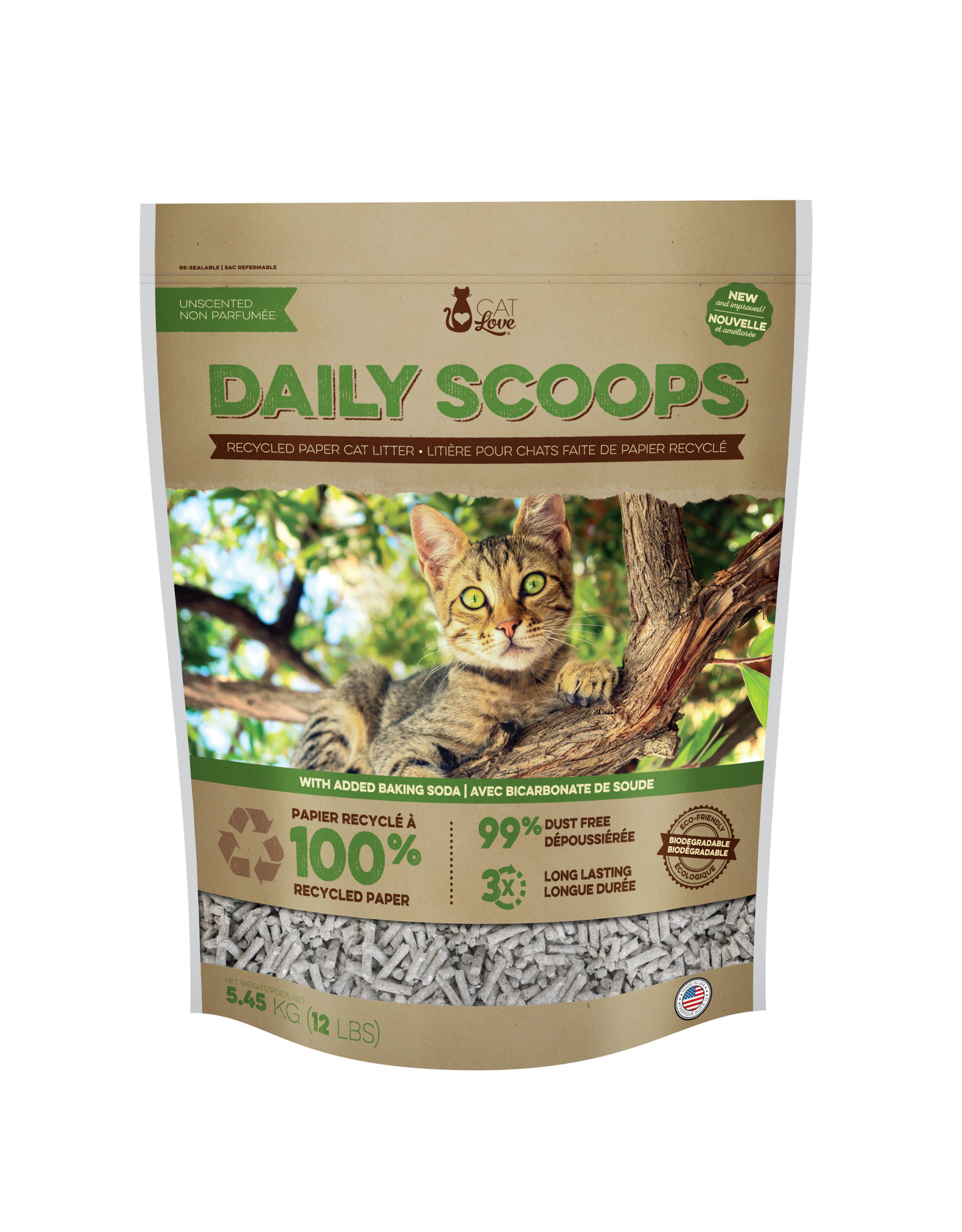 Cat Love Daily Scoops Recycled Paper Litter 12lb