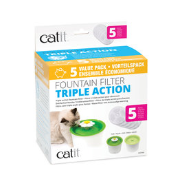 CatIt Triple Action Fountain Filter 5 Pack