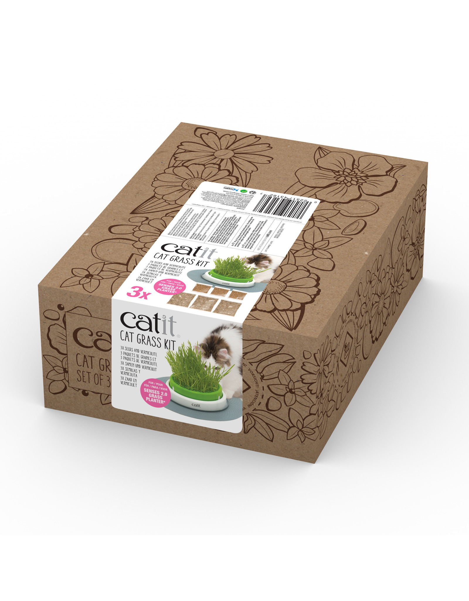 CatIt Senses 2.0 Cat Grass Kit 3 Pack