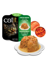 CatIt Chicken Dinner with Salmon & Carrots 80g