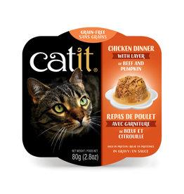 CatIt Chicken Dinner with Beef & Pumpkin 80g