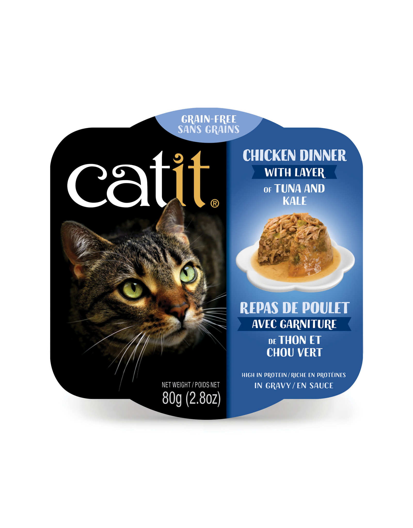 CatIt Chicken Dinner with Tuna & Kale 80g