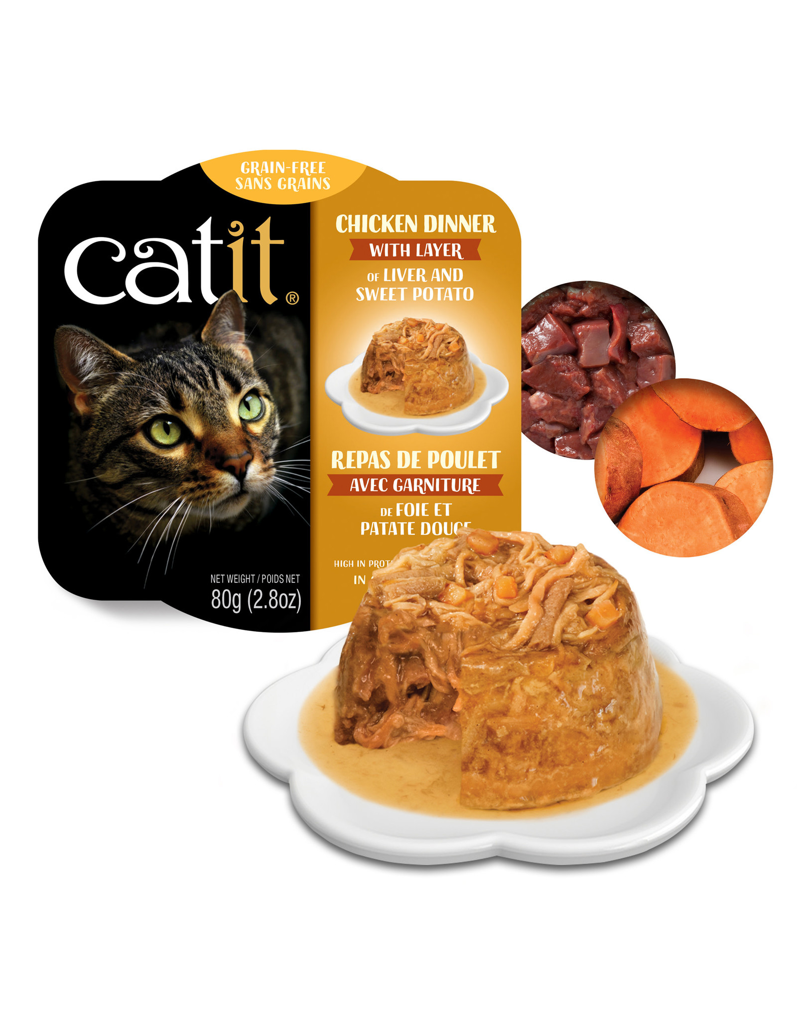 CatIt Chicken Dinner with Liver & Sweet Potato 80g