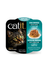 CatIt Fish Dinner with Tuna & Carrots 80g