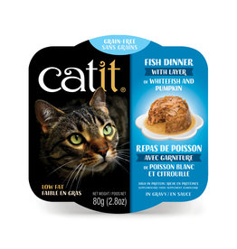 CatIt Fish Dinner with Whitefish & Pumpkin 80g
