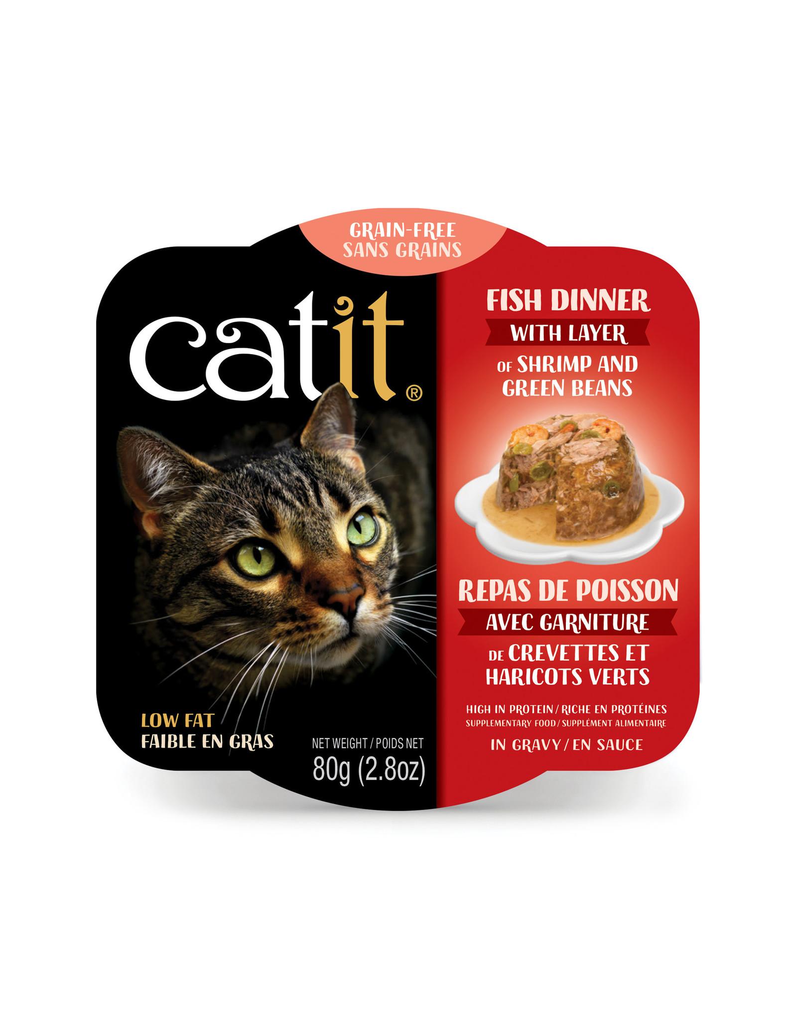 CatIt Fish Dinner with Shrimp & Green Beans 80g