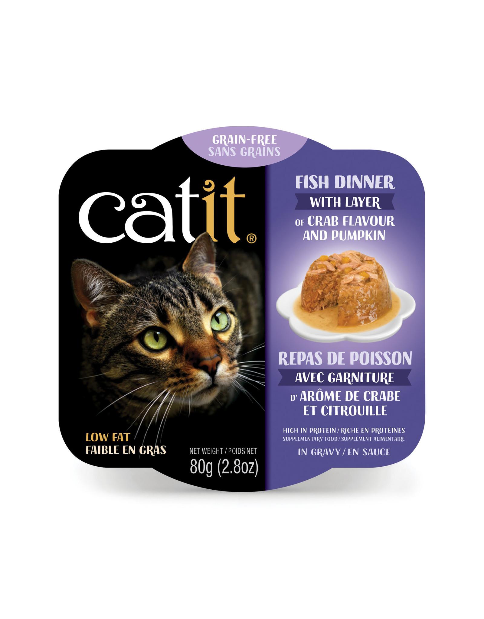 CatIt Fish Dinner with Crab Flavor & Pumpkin 80g