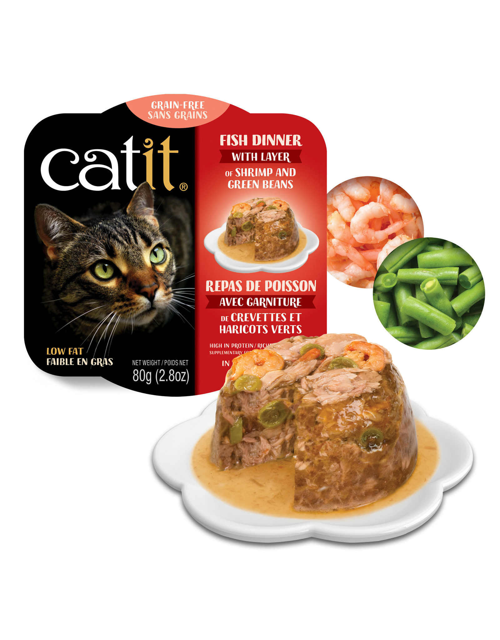 CatIt Fish Dinner with Shrimp & Green Beans 80g