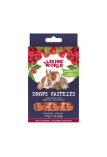 Living World Living World Small Animal Drops, Raspberry Flavour, 75 g (2.6 oz)