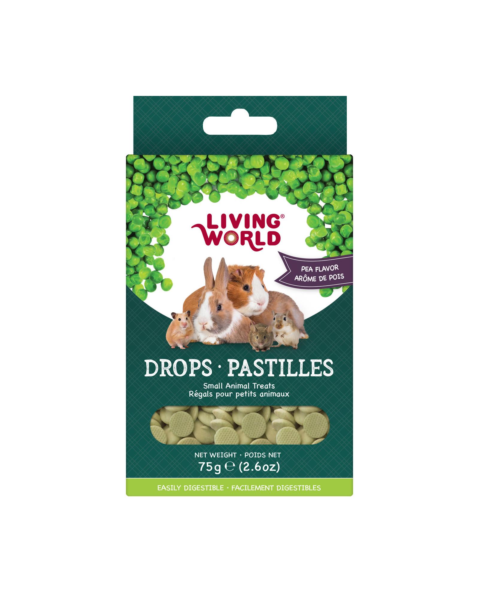 Living World Living World Small Animal Drops, Pea Flavour, 75 g (2.6 oz)