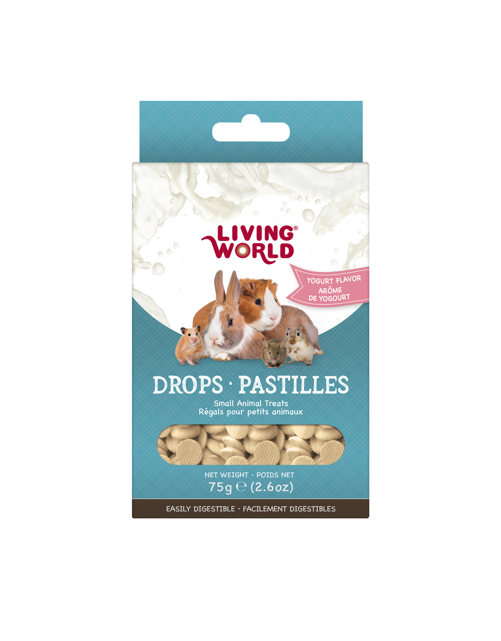 Living World Living World Small Animal Drops, Yogurt Flavour, 75 g (2.6 oz)