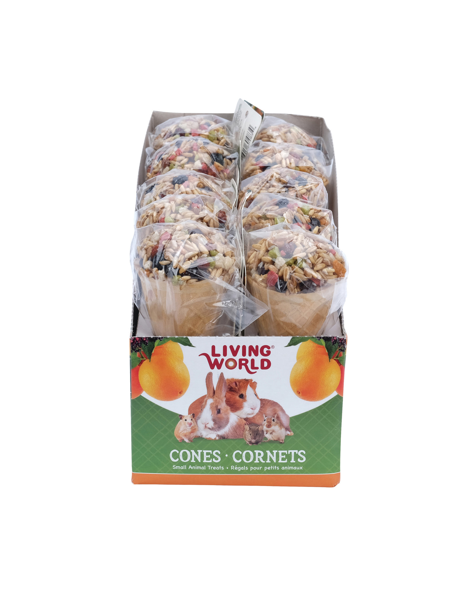 Living World Living World Small Animal Cone, Fruit Flavour, 40 g (1.4 oz)