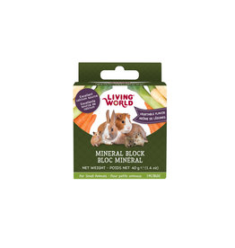 Living World Living World Small Animal Mineral Block, Vegetable Flavour, Small, 40 g (1.4 oz)