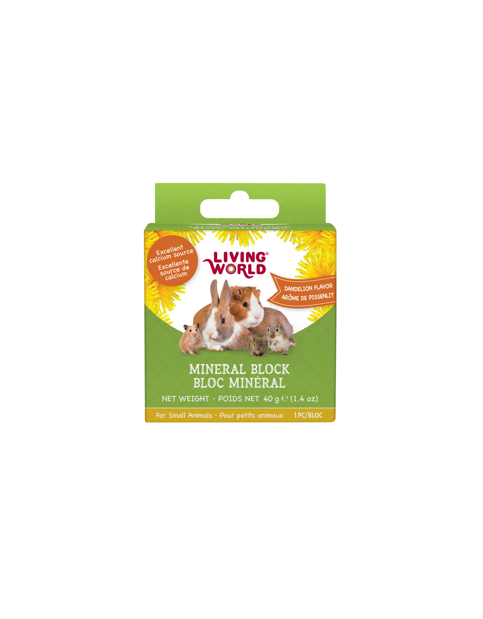 Living World Living World Small Animal Mineral Block, Dandelion Flavour, Small, 40 g (1.4 oz)