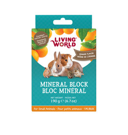 Living World Living World Small Animal Mineral Block, Orange Flavour, Large, 190 g (6.7 oz)