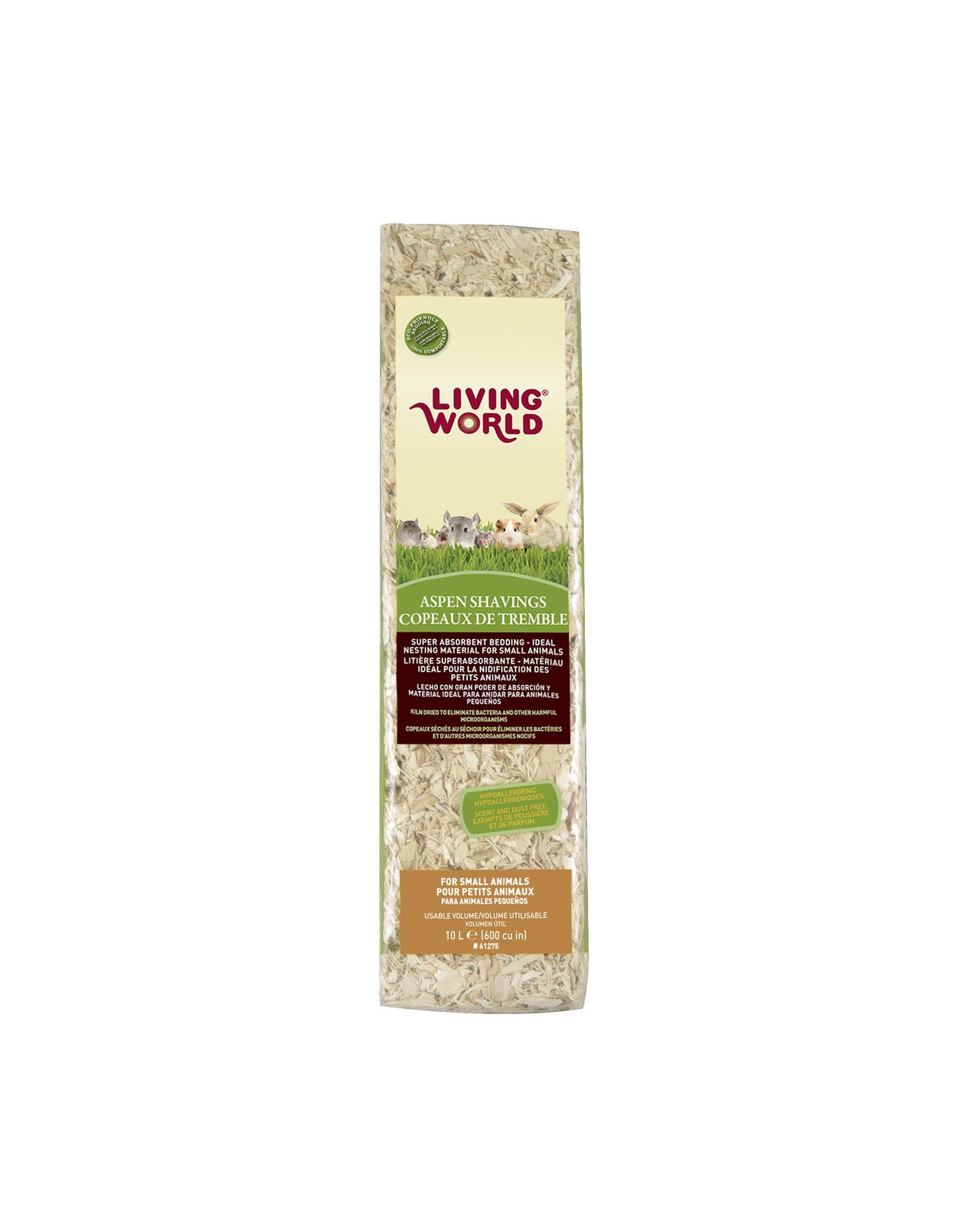 Living World Aspen Shavings - 10 L (600 cu in)