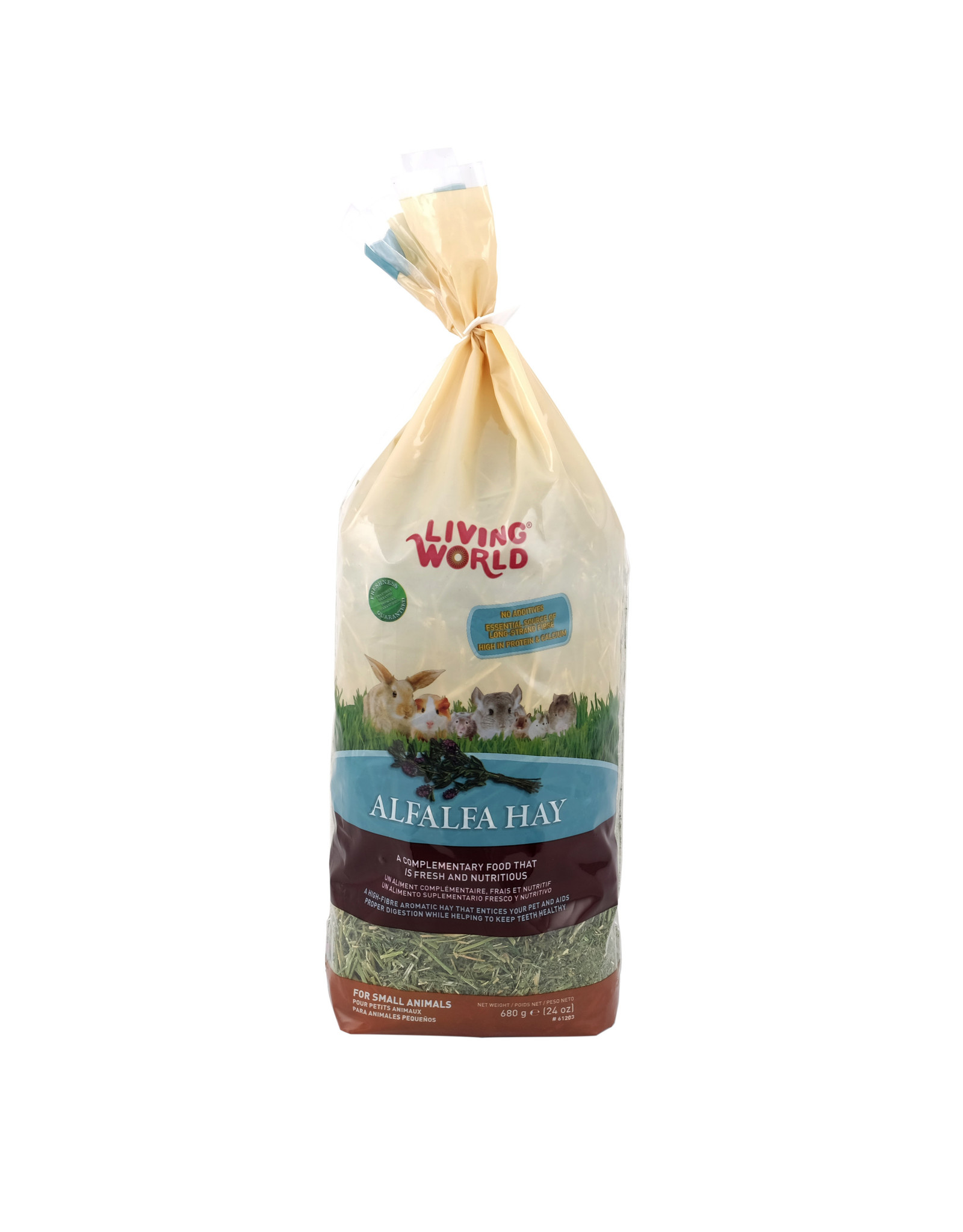 Living World Living World Alfalfa Hay - Large - 680 g (24 oz)