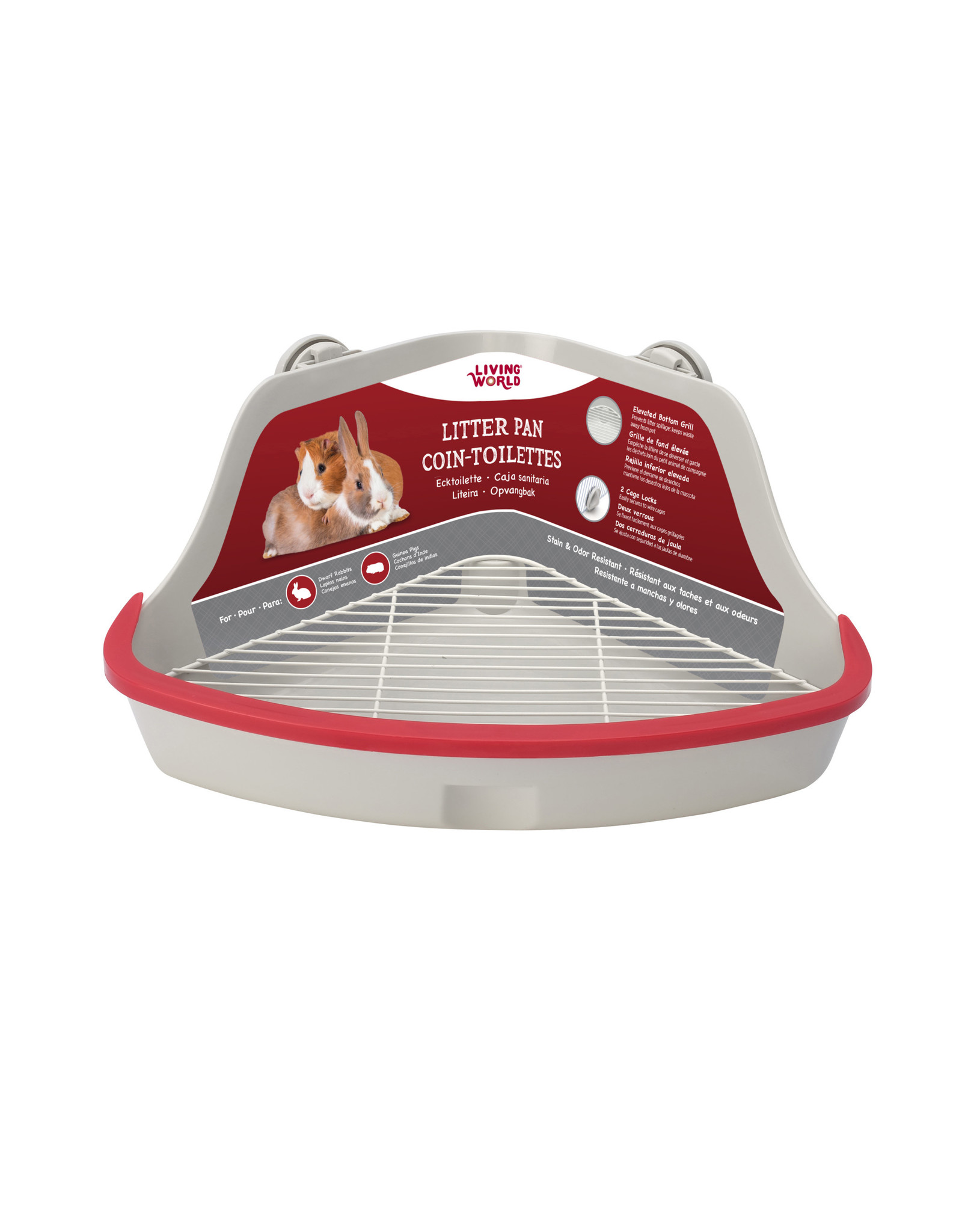 Living World Living World Small Animal Corner Litter Pan - Gray - Small