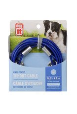 DogIt Dog Tether Tie-out Cable Blue Medium 4.6m (15')