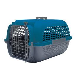 "DogIt Voyageur Dog Carrier Dark Blue/Charcoal Small 48.3L x 32.6W x 28cmH (19x12.8x11"")"
