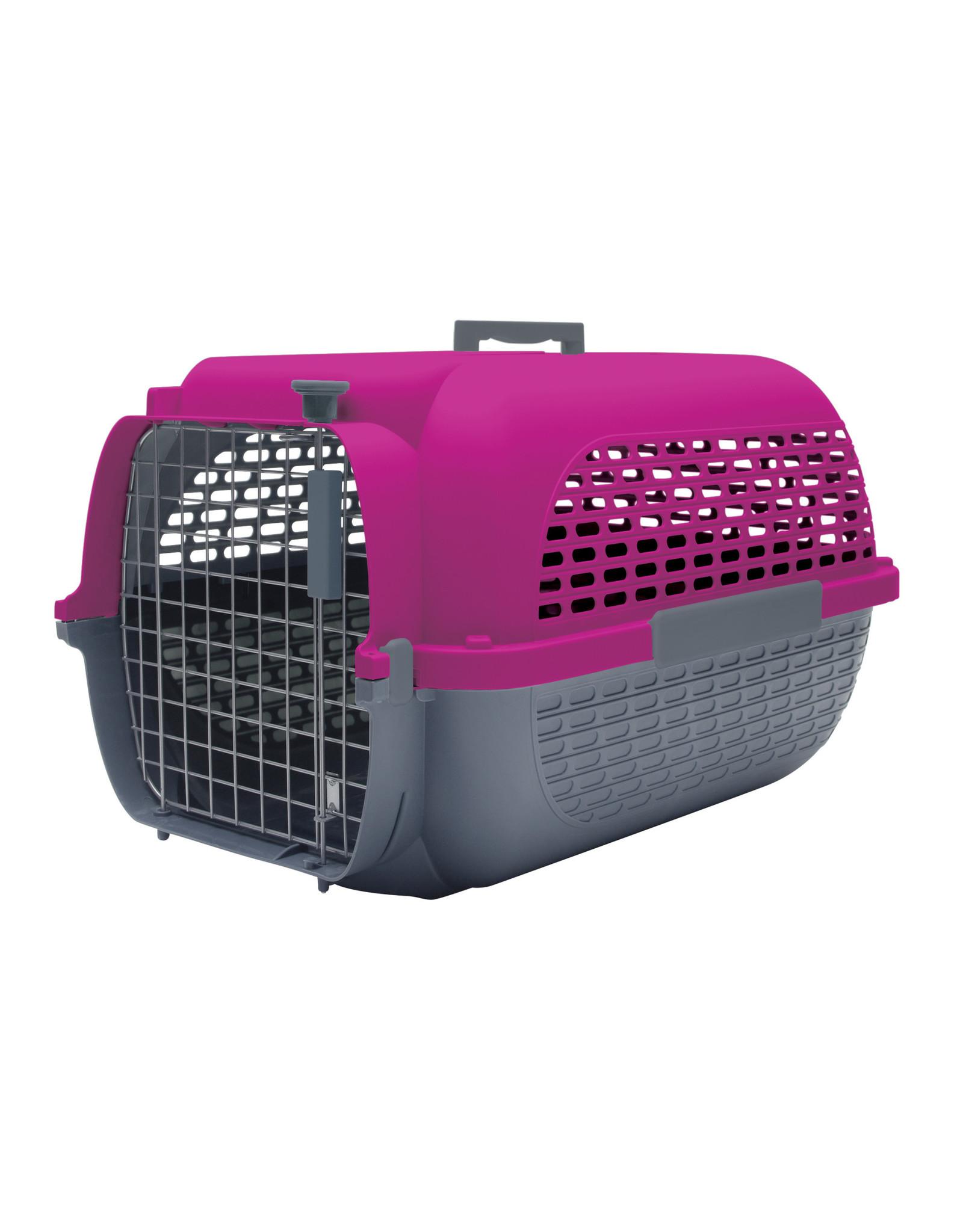 "DogIt Voyageur Dog Carrier Fuchsia/Charcoal Small 48.3L x 32.6W x 28cmH (19x12.8x11"")"