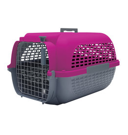 "DogIt Voyageur Dog Carrier Fuchsia/Charcoal Small 48.3L x 32.6W x 28cmH (19x12.8x11"")"