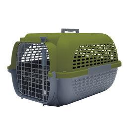 "DogIt Voyageur Dog Carrier Khaki/Charcoal Large 61.9L x 42.6W x 36.9cmH (24.3x16.7x14.5"")"