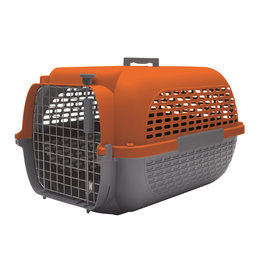 "DogIt Voyageur Dog Carrier Orange/Charcoal Medium 56.5L x 37.6W x 30.8cmH (22x14.8x12"")"