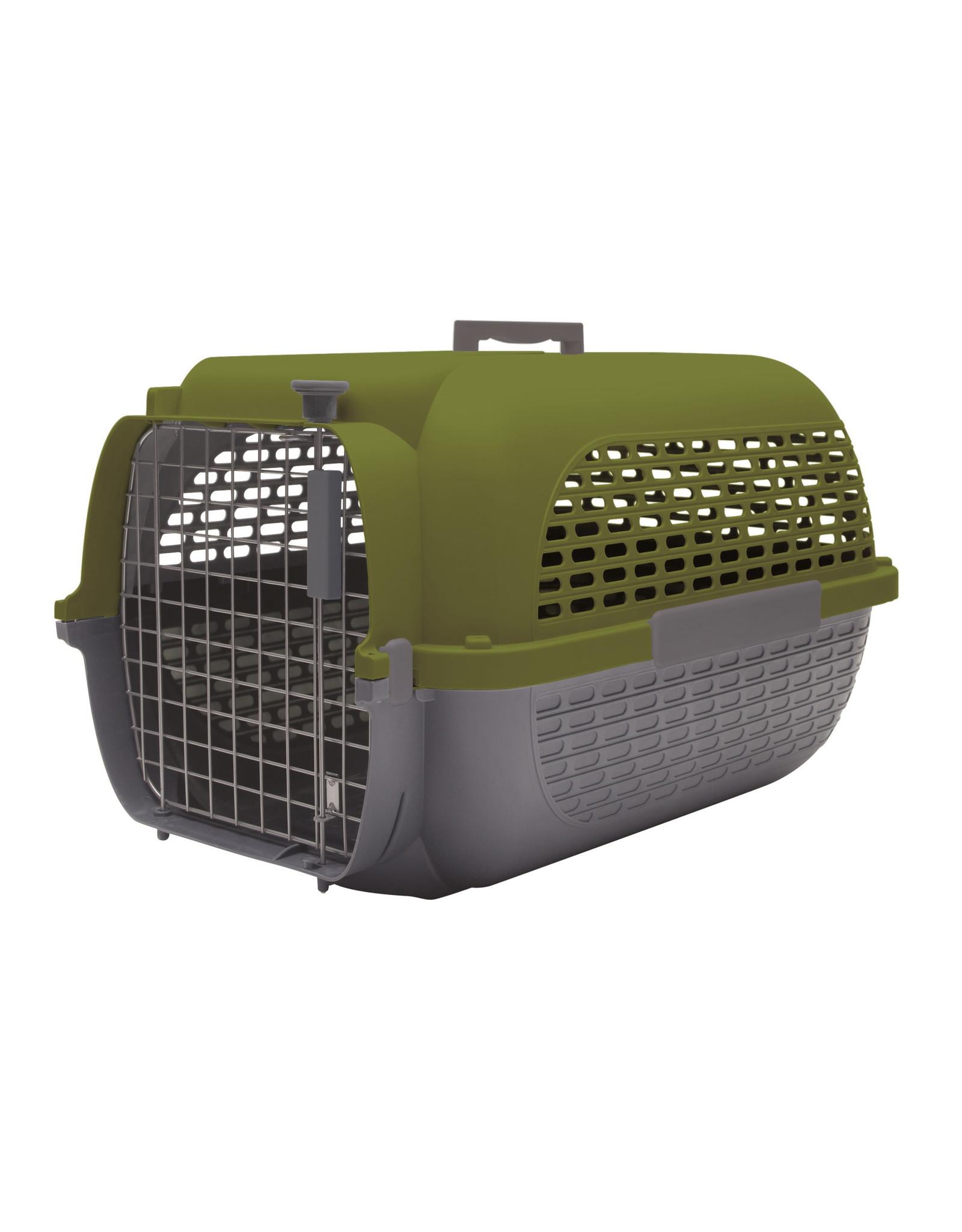 "DogIt Voyageur Dog Carrier Khaki/Charcoal XLarge 68.4L x 47.6W x 43.8cmH (26.9x18.7x17"")"