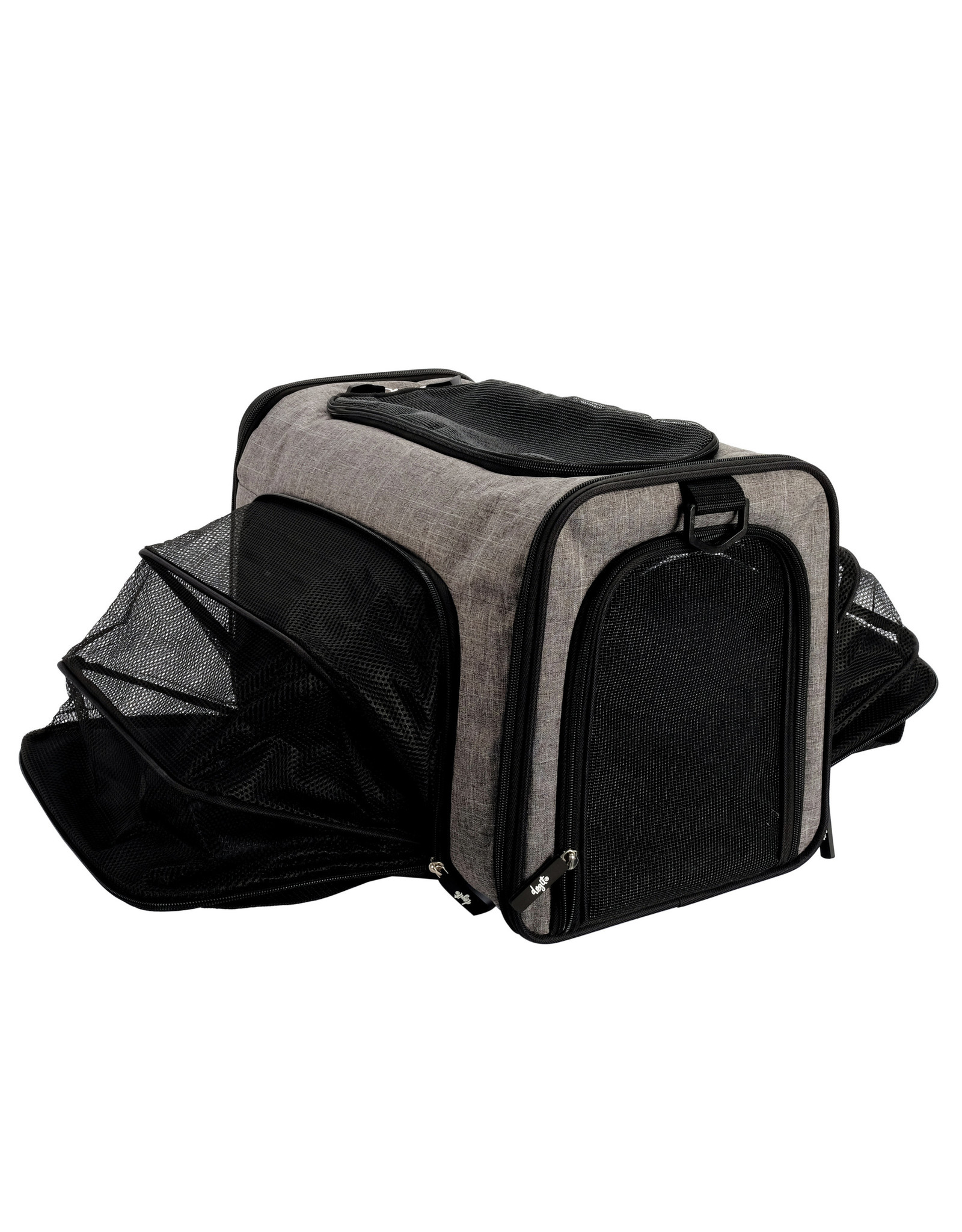 DogIt Soft Carrier Expandable Carry Bag Gray