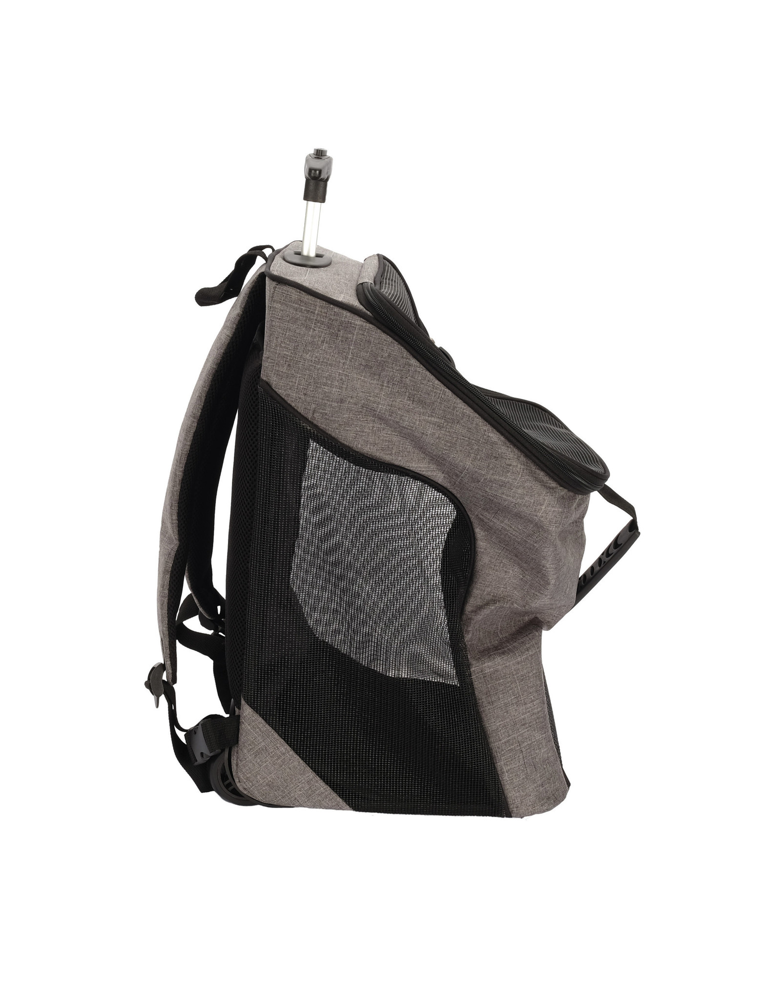 DogIt Soft Carrier 2-in-1 Wheeled Carrier/Backpack Gray