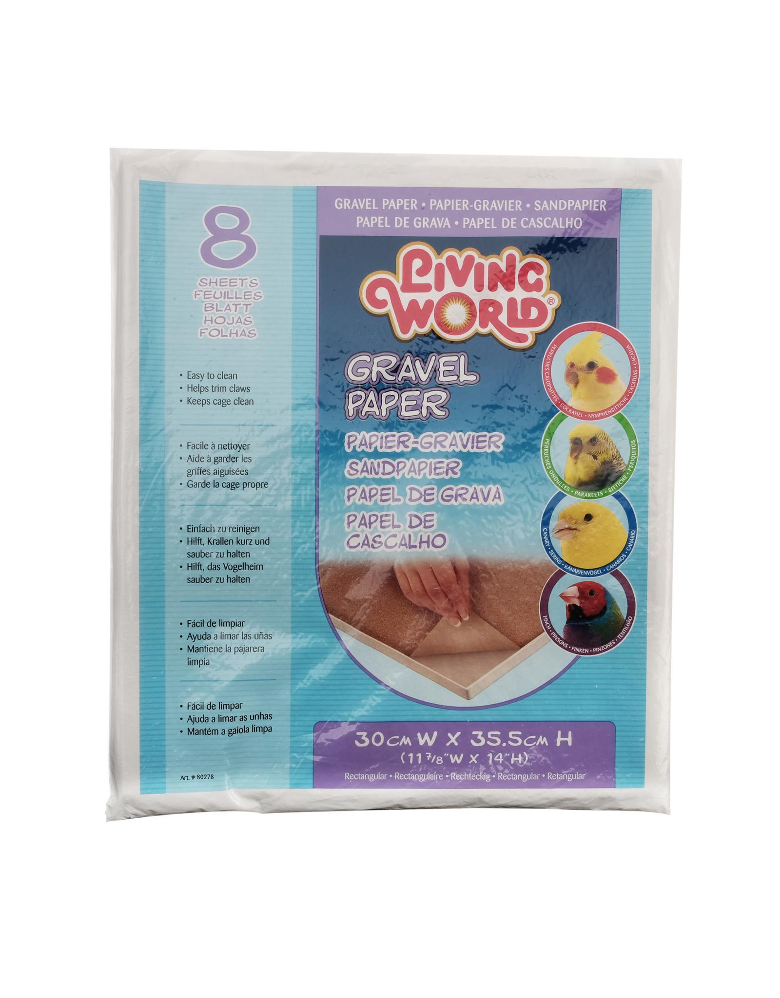 Living World Gravel Paper - Small - 8 pack - 30 cm x 35.5 cm (12 x 14 in)