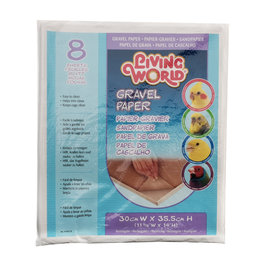 Living World Gravel Paper - Small - 8 pack - 30 cm x 35.5 cm (12 x 14 in)