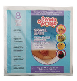 Living World Gravel Paper - Large - 8 pack - 40 cm x 39 cm (15.75 x 15.5 in)