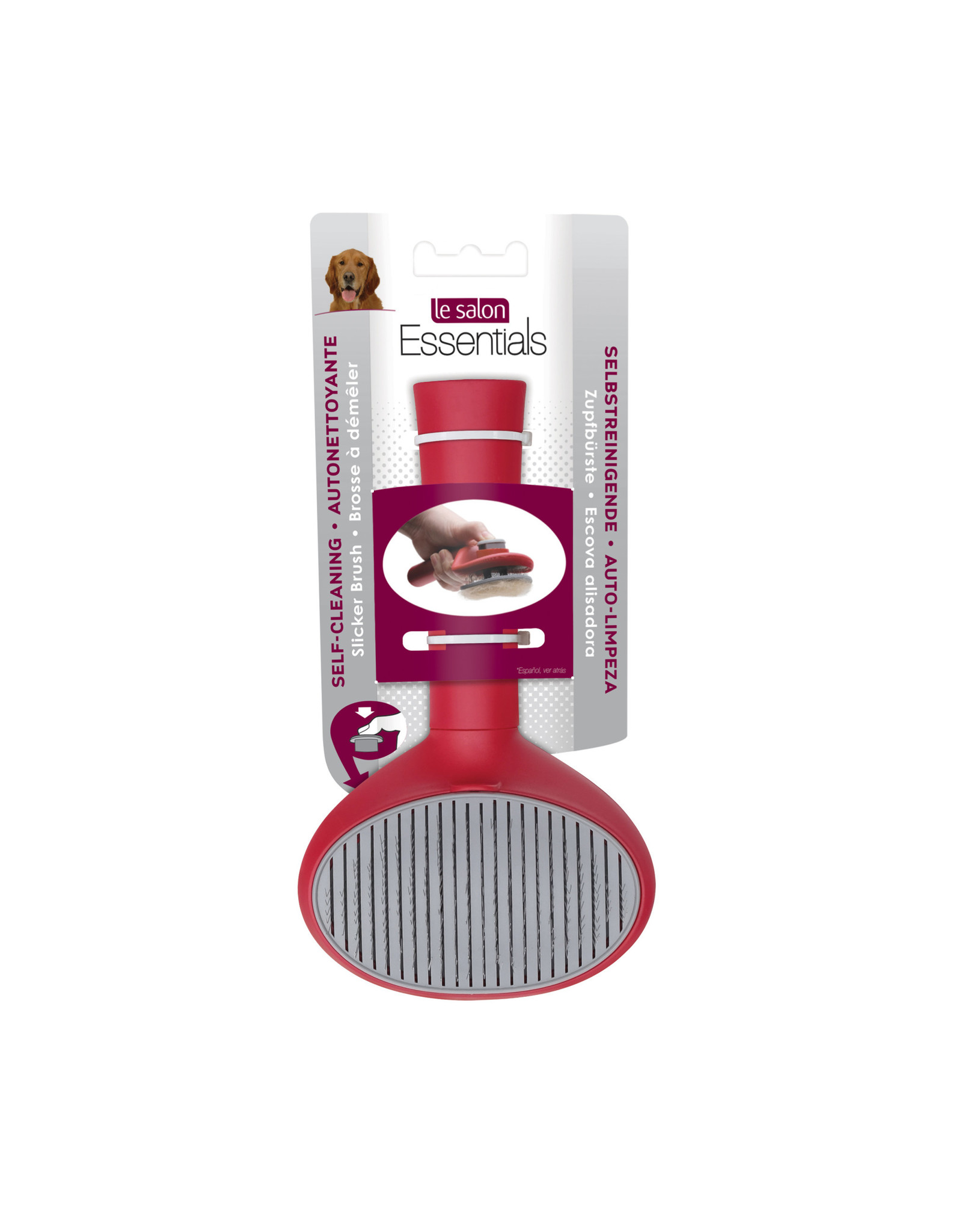 Le Salon LeSalon Self-Cleaning Slicker Brush for Dogs