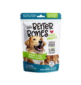 "Zeus Zeus Better Bones, Almond Flavour Chicken Wrapped Twists, 5"", 10 pack"
