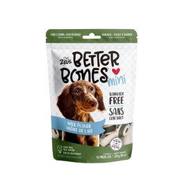 """Zeus Zeus Better Bones Milk Flavour Bones 3"""" 12 pk"""