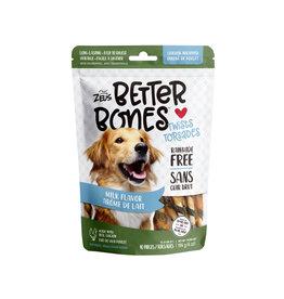"""Zeus Zeus Better Bones Milk Flavour Chicken Wrapped Twists 5"""" 10 pk"""