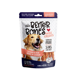 "Zeus Zeus Better Bones, Salmon Flavour Chicken Wrapped Twists, 5"", 10 pack"