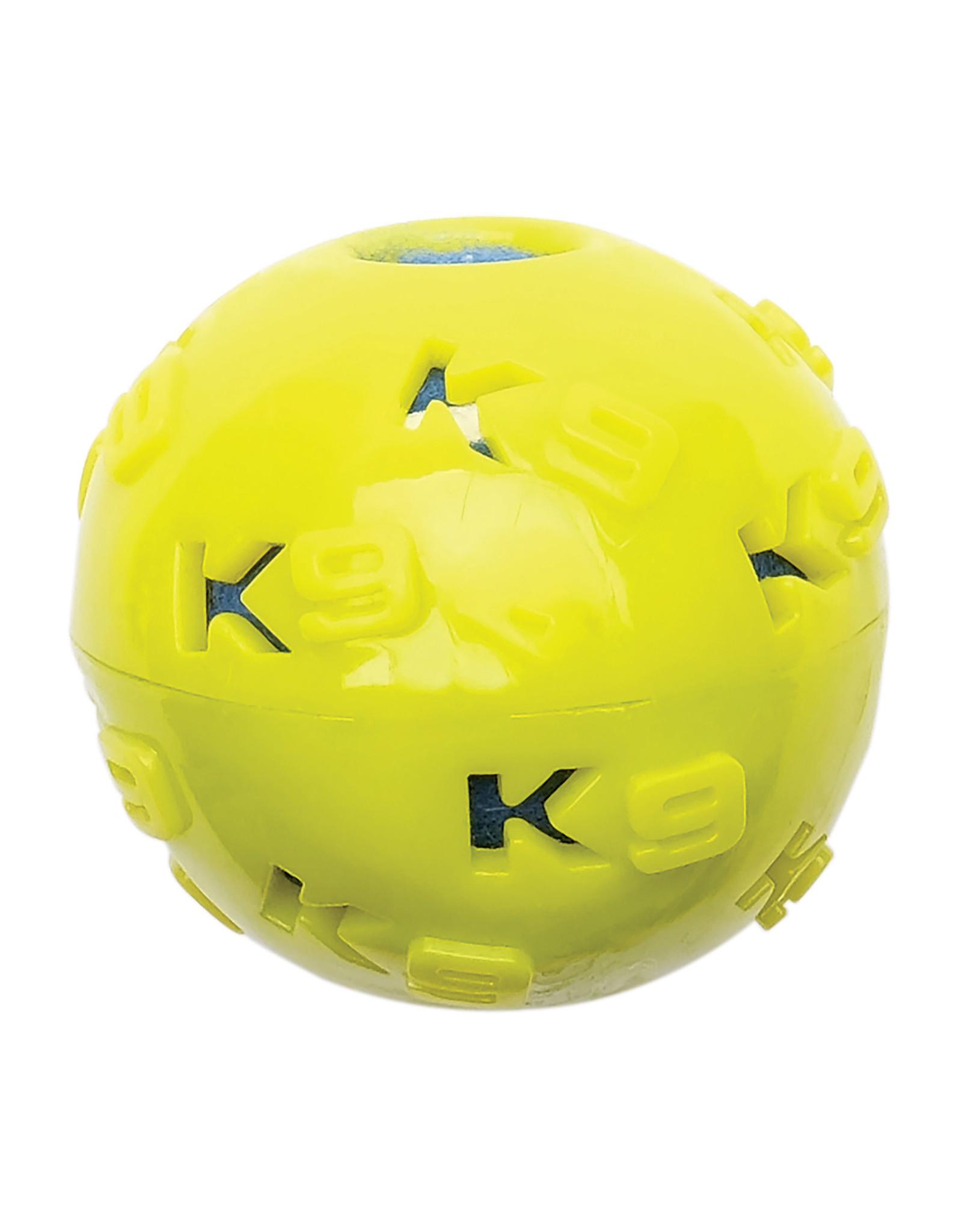 """Zeus K9 Fitness TPR Ball Encasing Tennis Ball - 7.62cm dia. (3"""" dia.)"""