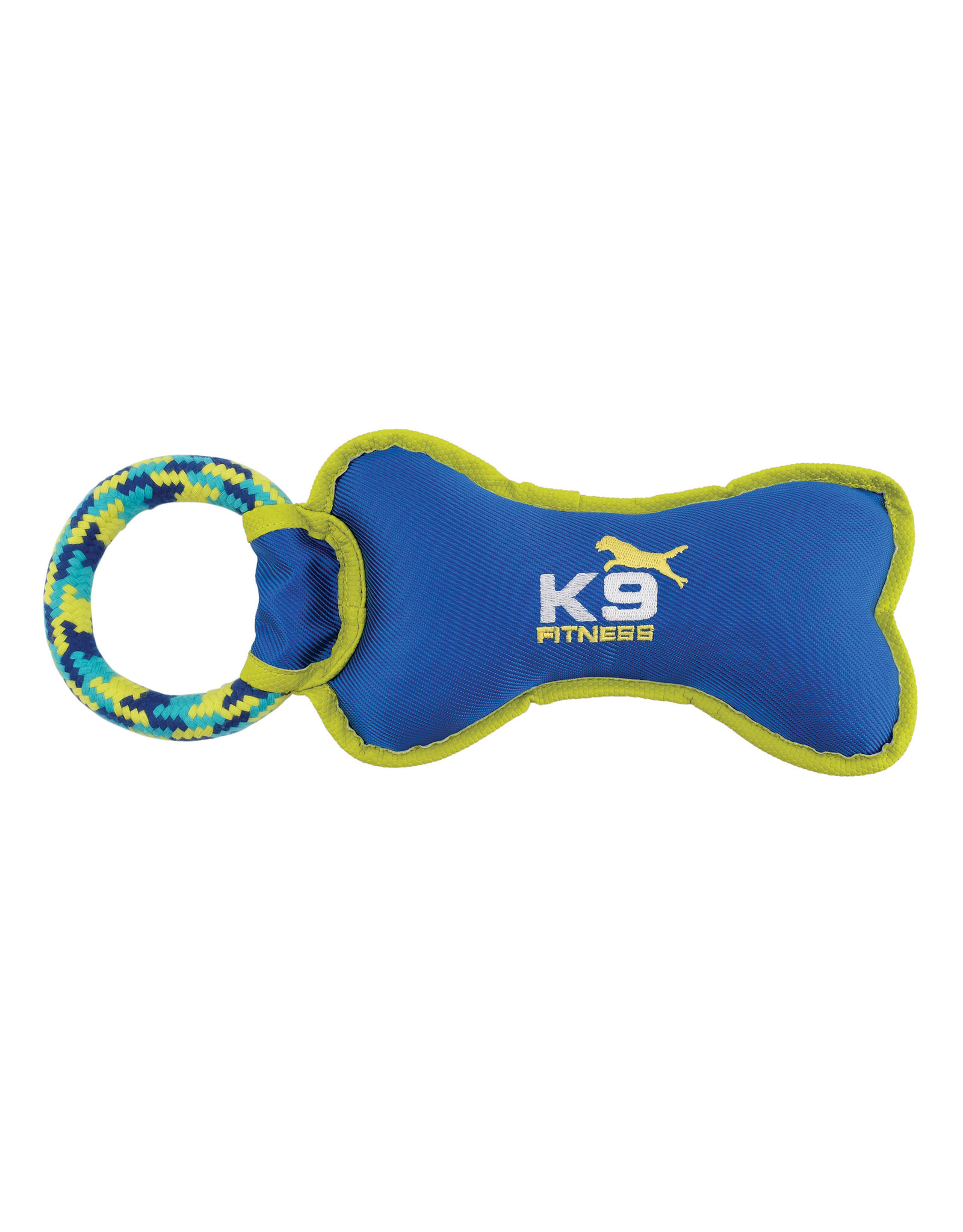 "Zeus K9 Fitness Tough Nylon Bone with Rope Tug - 30.5cm (12.5"")"