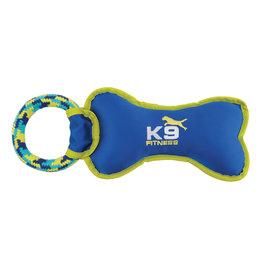 "Zeus K9 Fitness Tough Nylon Bone with Rope Tug - 30.5cm (12.5"")"