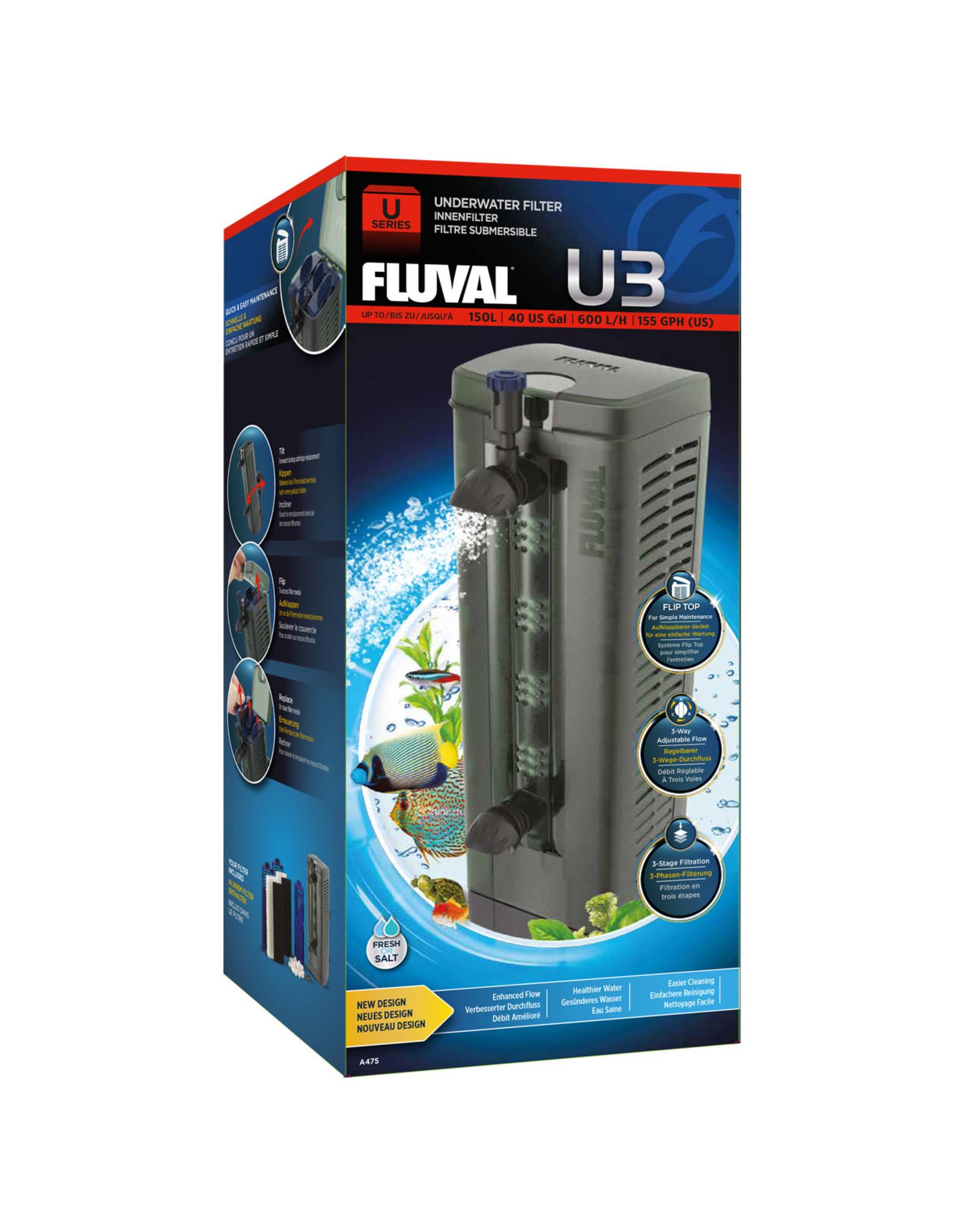 Fluval Fluval U3 Underwater Filter - 150 L (40 US Gal)
